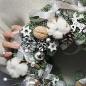 Зимний веночек «Домашний уют» фото