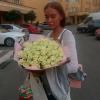 51 белая роза 50 см фото