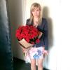 31 красная роза Гран При 60 см фото