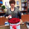 51 красная роза в шляпной коробке фото