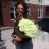 51 white rose Avalanche 60 cm photo