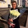 41 белая роза Аваланч 60 см фото
