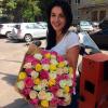101 роза микс 7 60 cм фото