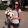 41 роза микс «красно-белая» 60 см фото