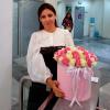 51 роза микс 3 в шляпной коробке фото