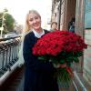 151 красная роза Гран При 60 см фото