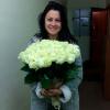 51 белая роза 80 см фото