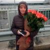 41 коралловая роза Вау 60 см фото
