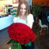 101 красная роза Гран При 60 см фото