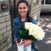 29 белых роз Аваланч 60 см фото