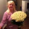 49 белых роз Аваланч 60 см фото