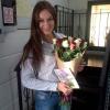 21 роза микс «красно-белая» 60 см фото