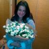 29 белых(бежевых) роз спрей 60 см фото