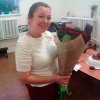 19 красных роз Гран При 60 см фото