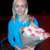 29 роз микс «розово-бело-бежевая» 60 см фото