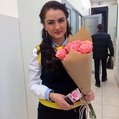11 розовых роз Аква 60 см фото