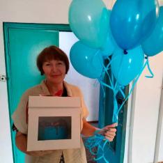 Авторский торт «Голубой океан»  фото