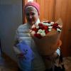 51 роза микс красно-белая 50 см фото