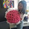 101 розовая роза Аква 60 см фото