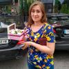Коробка с цветами 1 | размер S фото