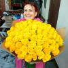 101 желтая роза Пени Лейн 60 см фото