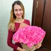 51 розовая роза 80 см фото