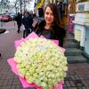 101 белая роза 60 см фото