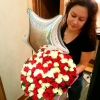 101 роза микс красно-белая 50 см фото