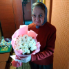 33 белых роз 50 см фото