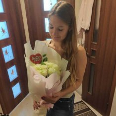Букет роз в ассортименте «Люблю тебя» фото