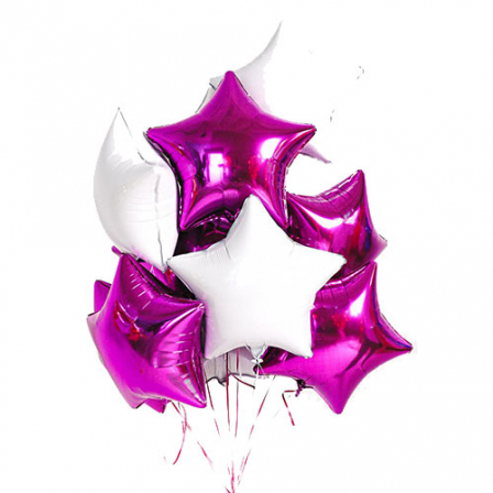 11 shaped foil helium balloons mix photo