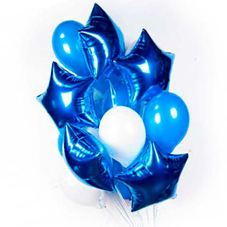 11 гелиевых и фольгированных шариков микс фото