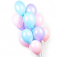 17 гелиевых шариков микс фото