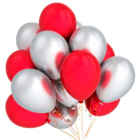 19 гелиевых шариков микс фото