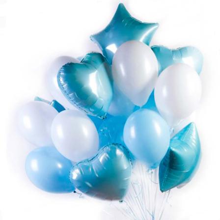 21 гелиевый и фольгированный шарик микс фото