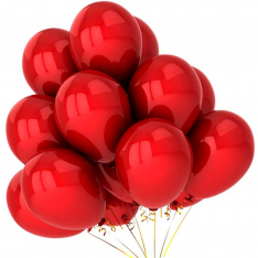 21 гелієвий кулька «червоний» фото
