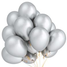 21 гелиевый шарик «серебро» фото