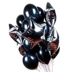 25 гелиевых и фольгированных шариков микс  фото