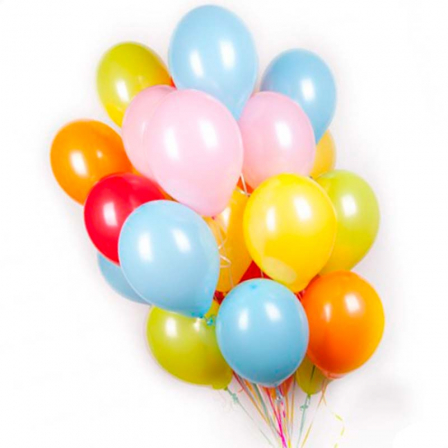 27 гелиевых шариков микс фото