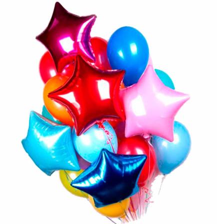 31 гелиевый  и фольгированный шарик микс фото