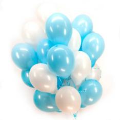 33 гелиевых шарика микс фото