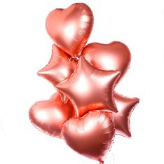 7 фольгированных гелиевых шариков микс фото
