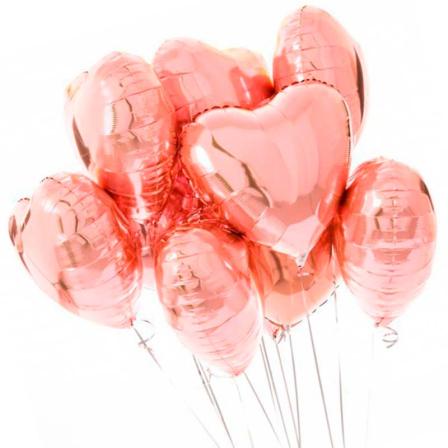 7  фольгированных гелиевых шариков «сердце» фото