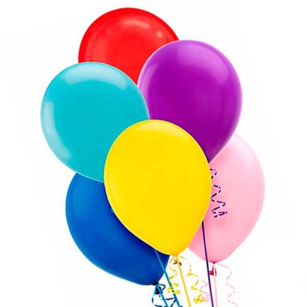 7 helium balloons mix 1 photo