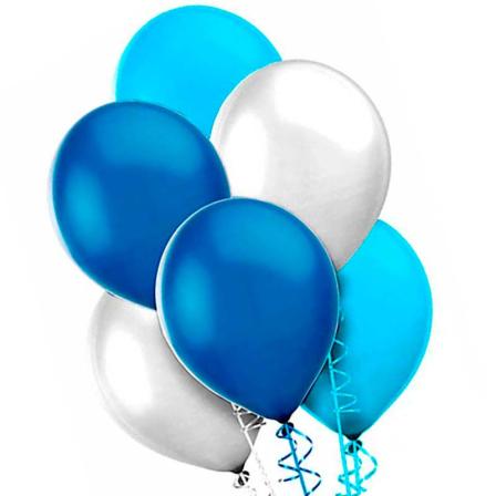 7 helium balloons mix 3 photo