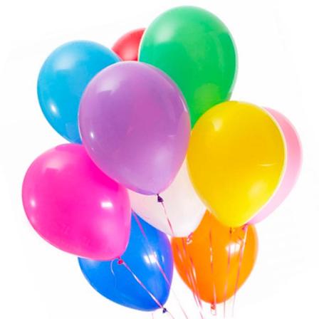 9 гелиевых шариков микс фото