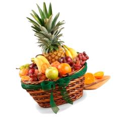 Фруктовая корзина «Ароматный ананас» фото