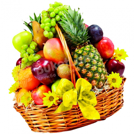 "Fruit basket ""Be healthy"" photo"
