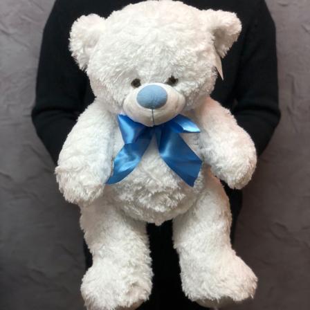М'яка іграшка «Білий ведмедик» фото