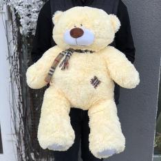 М'яка іграшка «Ведмедик Тедді» 70 см (персиковий) фото